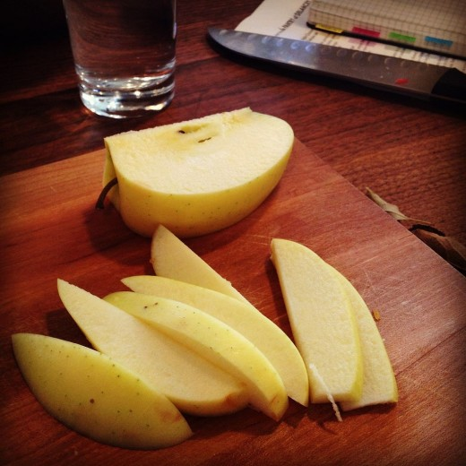 Always start with good quality firm and tart apples for chicken dishes
