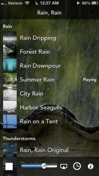 Rain, Rain iPhone app