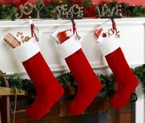 Stockings stuffed with candy, gifts and fruit were always provided by my mom for me on Christmas when I was a child.