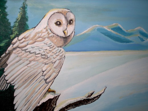 A Snow Owl stands guard, as Winter soon to come...