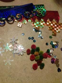 All of the supplies we used to create our banks with magical effect
