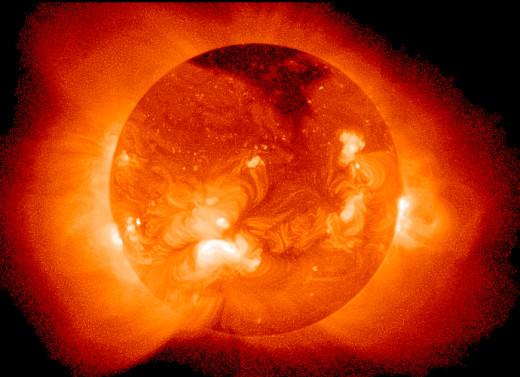 Sun as seen by the Soft X-Ray Telescope aboard satellite Yohkoh.