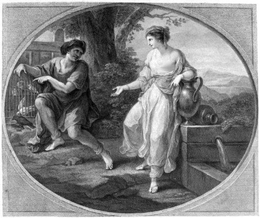 Angelica Kauffman's picture of Aesop and Rhodope
