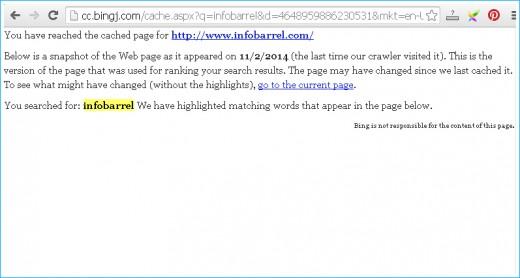 Bing Cache of InfoBarrel.com Homepage