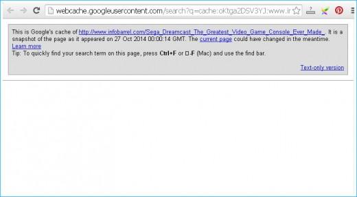 Google Cache of InfoBarrel.com Article