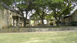 Community Center courtyard for Katherine Fleischer Park Wells Branch Austin Texas