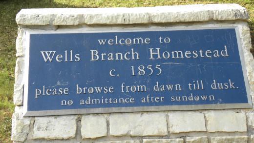 Historical Gault Homestead at  Katherine Fleischer Park Wells Branch Austin Texas
