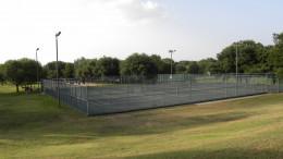 Tennis Courts at  Katherine Fleischer Park Wells Branch Austin Texas
