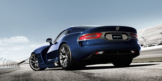 2015 Dodge Viper Blue Rear