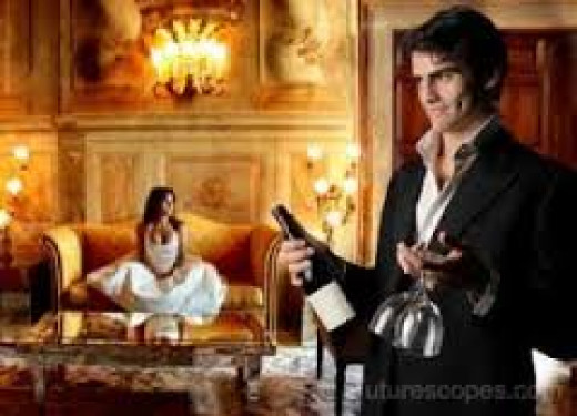 Champagne is sometimes used to celebrate a couple's love