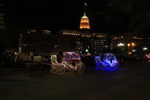 San Antonio Texas at Night.