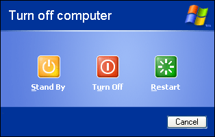 WinXP Pro Shutdown Options