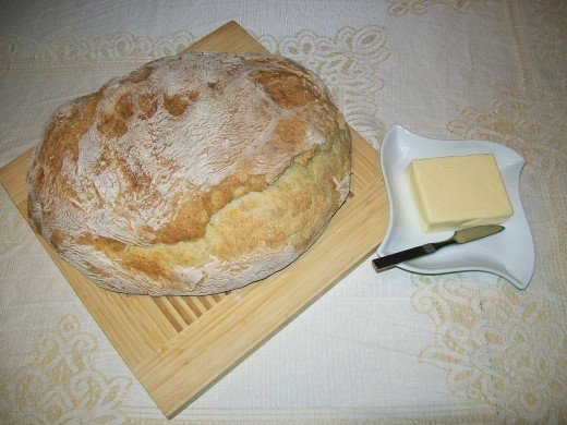 Lovely light homemade potato bread made with white flour