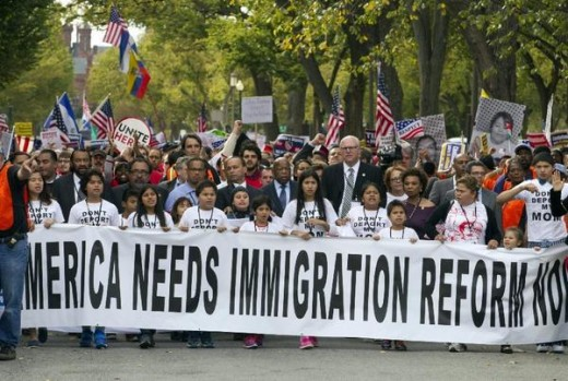Immigration Reform protestors