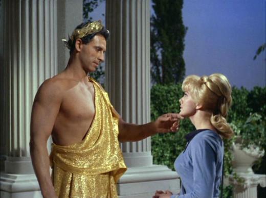 Star Trek - The god Apollo meets Nurse Chapel