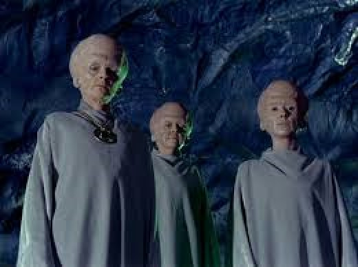 The telepathic, illusion-casting Talosians from the original Star Trek series.