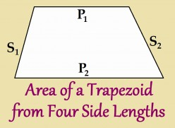 Trapezoid Area Given 4 Sides
