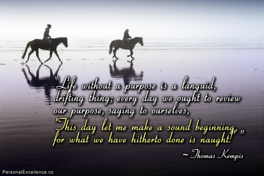 Thomas Kempis purpose quote