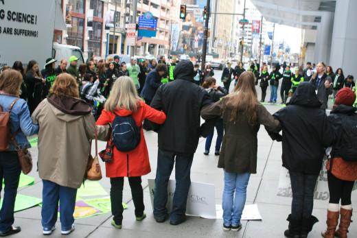 Protesting Lyme Disease, Philadelphia 2014