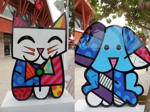 Sprinkled through Sentosa Island are neo-pop art sculptures done by Romero Britto
