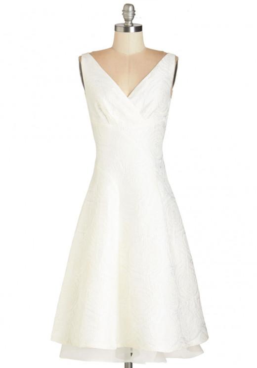 Cocktail-length White Dress--$136