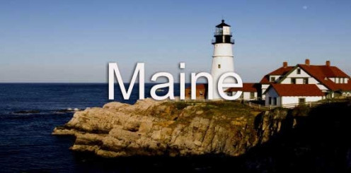 Many areas of Maine, such as the one pictured, are simply beautiful. The state has lots of places to tour for its beauty.