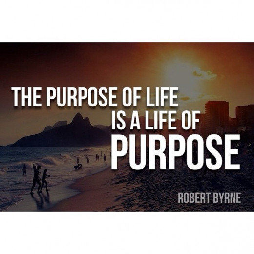 A quote about purpose from Robert Byrne: