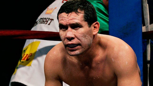 J.C. Chavez looks intense in between rounds of his bouts and he never seems to grow tired.