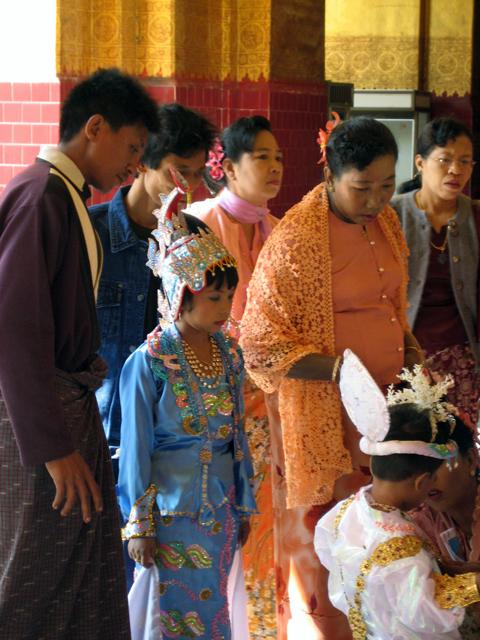 Ear Piercing ceremony in Myanmar