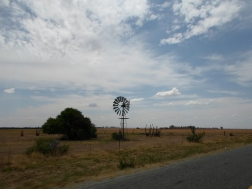Free State, South Africa, R30, between Bloemfontein and Bothaville - Many windmills along the road - I love windmills!