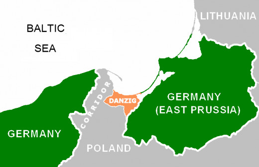 Danzig and the Polish Corridor.