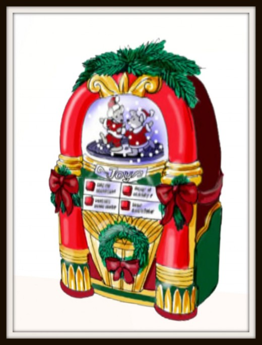 Christmas juke box