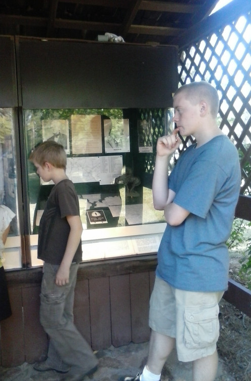 This was our field trip to a place called Sequoyah's Cabin.  Caleb has shown a great interest in his Cherokee nation studies/Oklahoma history.