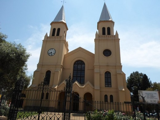 The Tweetoring Kerk (Twin Tower Church) Bloemfontein, built in 1849. (I was baptised in this church)