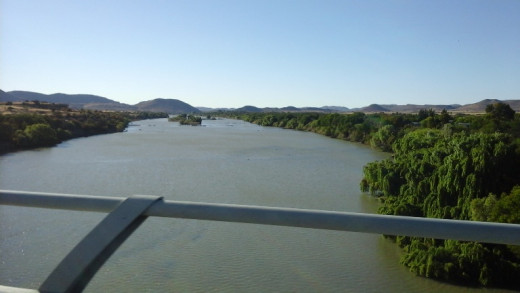 The Orange River, border of the Free State and Cape Province between Springfontein and Colesberg