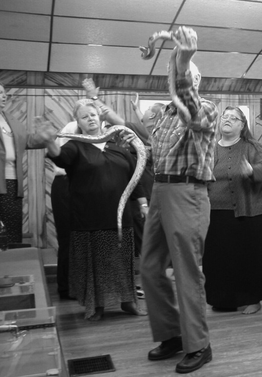 Serpent handling is practiced mostly in rural mountain areas of Appalachia.