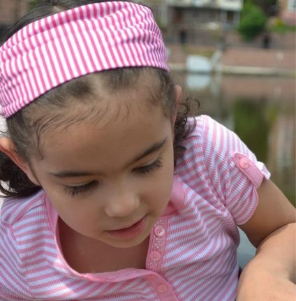 A Matching Headband Is Wonderful for Toddlers to Wear to Grandma's.