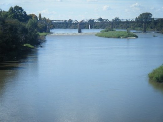 The Vaal River at Orkney - border between the North West Province and the Orange Free State