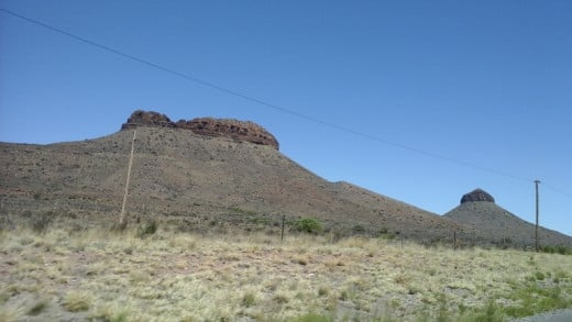 Great Karoo between Colesberg and Beaufort West - Two of the three sisters