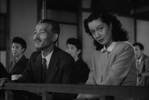Chishu Ryu and Setsuko Hara in Ozu's Late Spring (the Noh scene) (1949)
