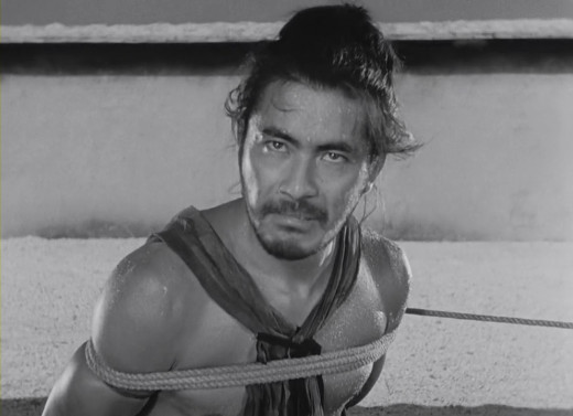 Toshiro Mifune in Kurosawa's classic Rashomon (1950)