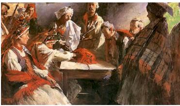 Zrekowiny the binding of hands by  Włodzimierz Tetmajer