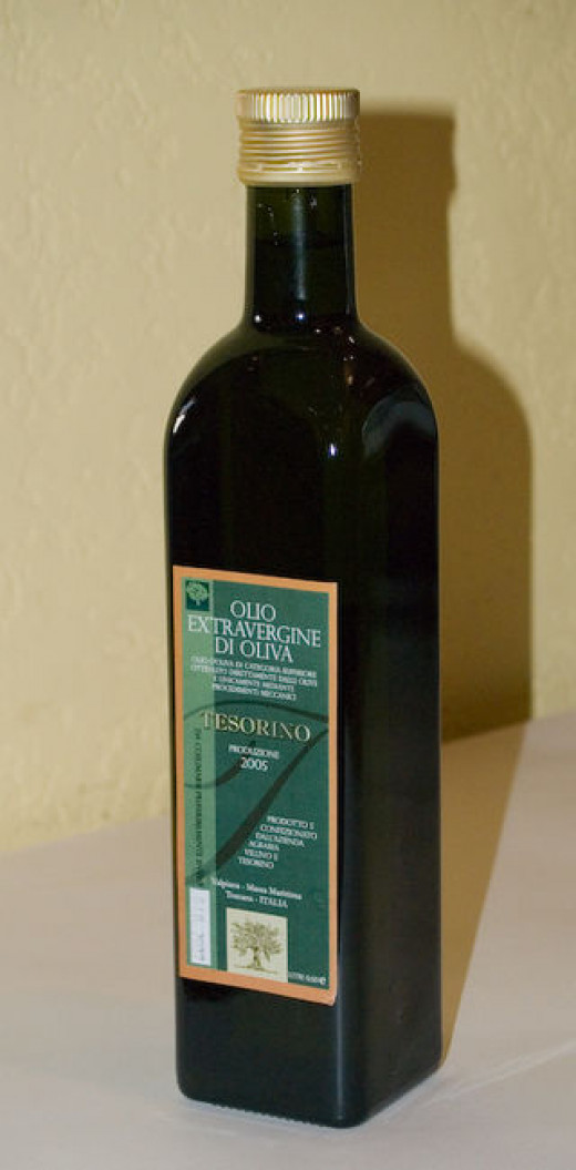 Olive oil is a common and healthy cooking oil.
