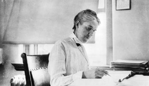 Henrietta Swan Leavitt hard at work.