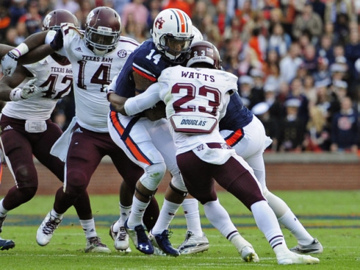 The Aggies defense did just enough to ruin the Tigers' playoff chances.