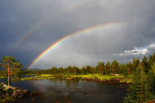 Rainbows are considered lucky because, as we all know, at the end is a pot of gold!