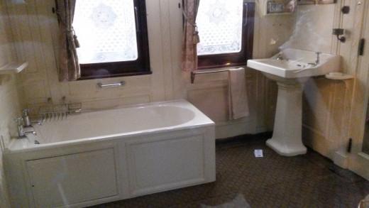 Bathroom on Queen Victorias Royal Train circa 1890.
