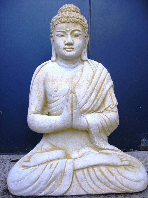 Rubbing a Buddha statue's belly is said to be lucky.