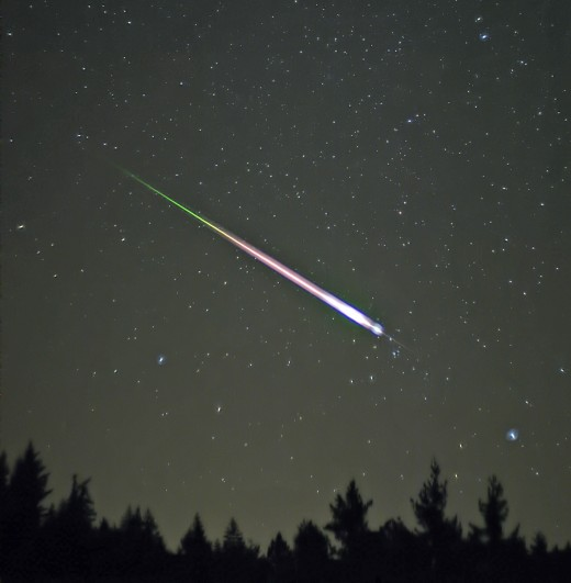 A falling or shooting star is said to grant the wisher a secret wish.