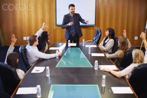 Speakers are the focal-point of high-level corporate meetings